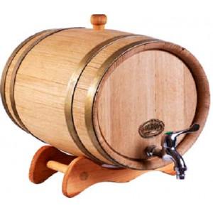 Бочка дубовая на подставке 50 литров, обручи из оцинкованной стали