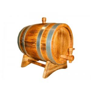 Бочка дубовая 10 литров Кавказский дуб, обработка воском, внешний обжиг