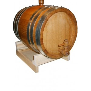 Бочка дубовая 20 литров Кавказский дуб, обработка воском