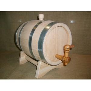 Бочка дубовая 5 литров Кавказский дуб, обжиг под виски