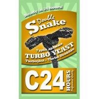 Спиртовые турбо дрожжи DoubleSnake C24, 175 грамм