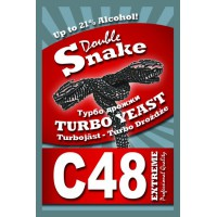 Спиртовые турбо дрожжи DoubleSnake C48, 130 грамм