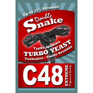 Спиртовые турбо дрожжи DoubleSnake C48, 90 грамм