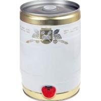 Бочонок для дображивания и розлива, белый-золото, 5 литров