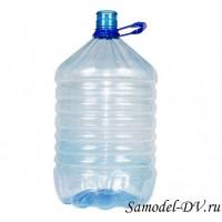 Бутыль пластиковая, тонкостенная, с ручкой, 19 литров