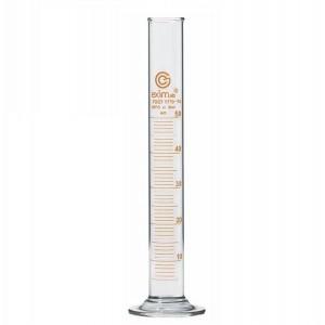 Цилиндр мерный 50 мл, с носиком, на стеклянном основании
