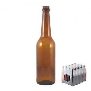 Бутылка пивная «Лонг», коричневое стекло, 0,5 л кейс 20 шт
