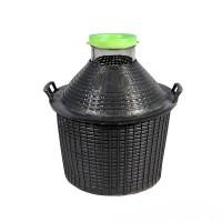 Банка в пластиковой корзине 34 литра