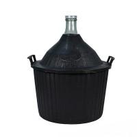 Бутыль в пластиковой корзине 34 литра