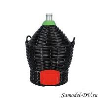 Бутыль в пластиковой корзине 34 литра, с краном