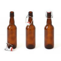 Бутылка коричневое стекло, 0,5 литра, с бугелем (коробка 20 штук)
