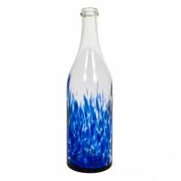 """Бутылка стеклокрошка """"Синяя"""" 1 литр, с пробкой"""