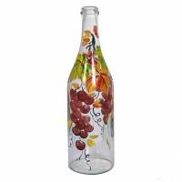 """Бутылка """"Виноград"""" 1 литр, с пробкой, ручная роспись"""