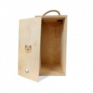 Короб подарочный, с гравировкой (белый) большой
