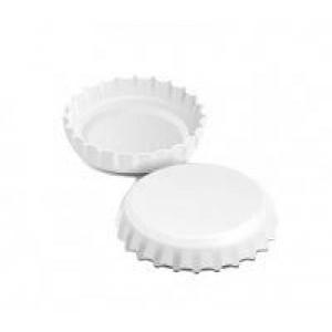 Кронен-пробки для стеклянных бутылок, (белые), 100шт