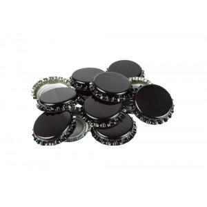 Кронен-пробки для стеклянных бутылок, (черные), 100шт