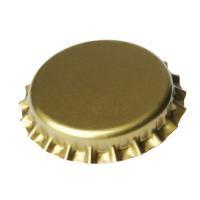 Кронен-пробки для стеклянных бутылок, (золотые), 100шт