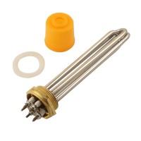 ТЭН нагревательный, латунная основа, 3кВт, DN40 (47 мм)